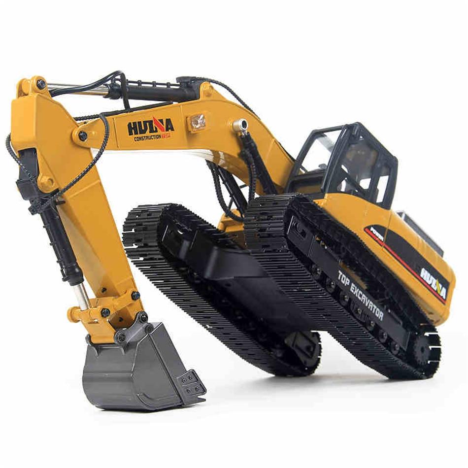 Hobby Rc Excavadora hidráulica coche juguetes para niños estilo 23 canal de construcción de la carretera camión de Control remoto Autos HUINA 580