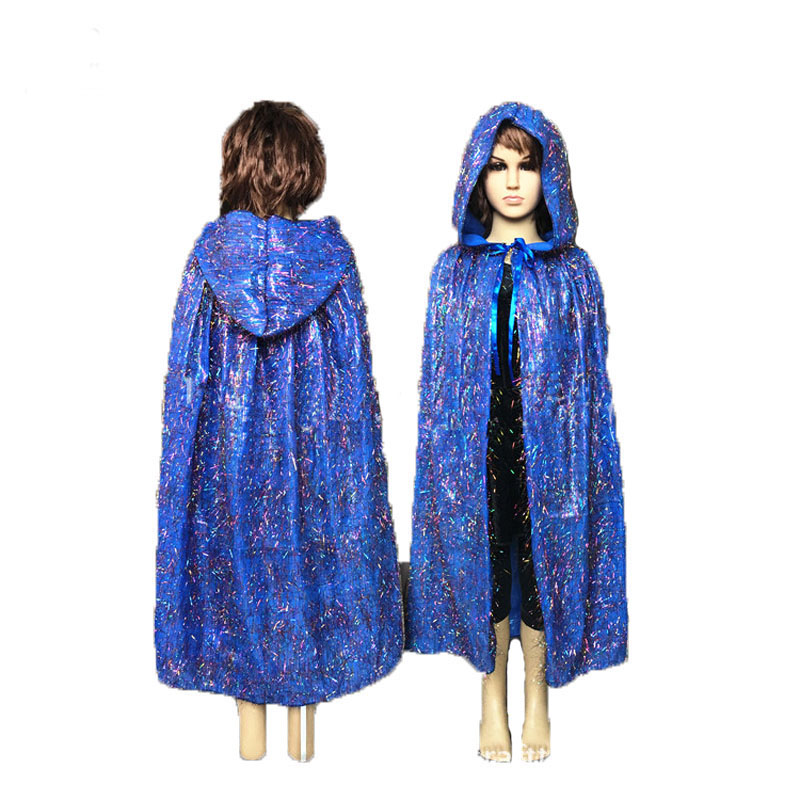 Children Gothic Beauties Hooded Cloak Colourful Spirit Fairy Cape Costumes For Girl Boys Witch Vampires Stage Party Cosplay