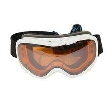 ATV Dirt Motorcycle Ski Snowboard Goggles Bright White Anti Fog Dual Lens Adult