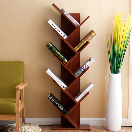 Bookcases Living Room Furniture Home Panel Tree Shape Bookcase Bookshelf Hot New Whole Sale Multi