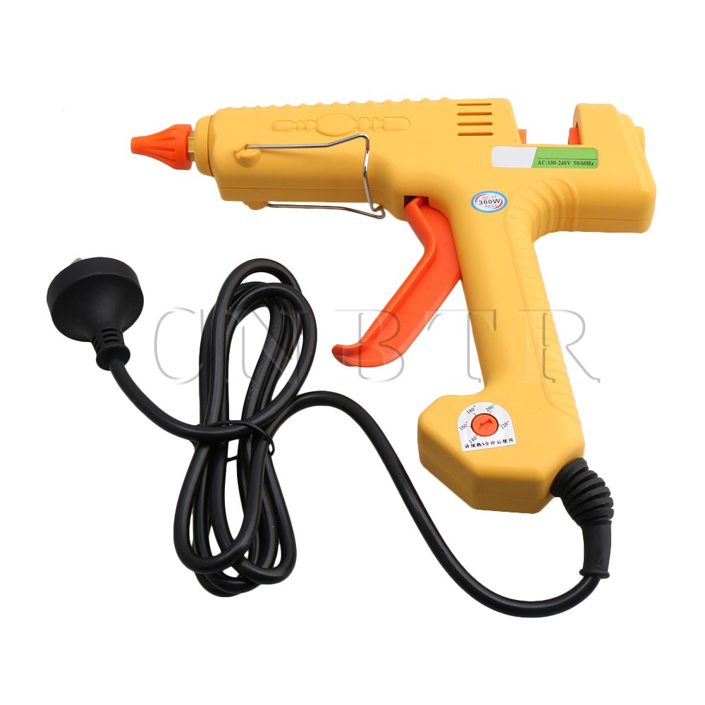 CNBTR US Plug AC110-240V 300W Adjustable Temperature Melt Glue Gun Art Craft Repair Tool for 11mm Glue Stick цена