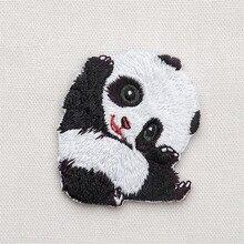 Maxsin Fun 1 шт. Милая нашивка в виде панды для одежды DIY аксессуары железная аппликация Одежда Обувь, Сумки, украшение нашивки в виде животных