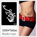 Desechables tatuaje plantilla, desmontable, la creación artística, de moda, de la piel disponibles, tatuajes, Mito, Phoenix, 398