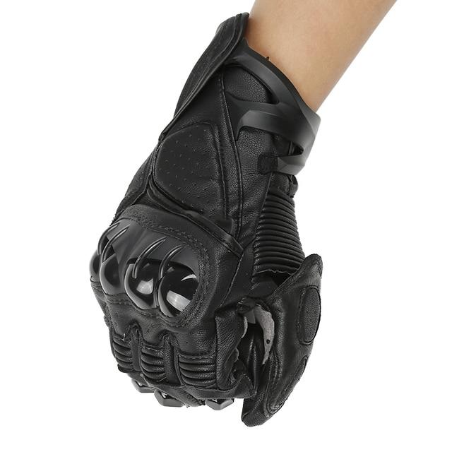 Breathable Motocross  racing Mtb glove Motorcycle Gloves Leather Guantes Moto luvas motociclista motorbike riding gants moto
