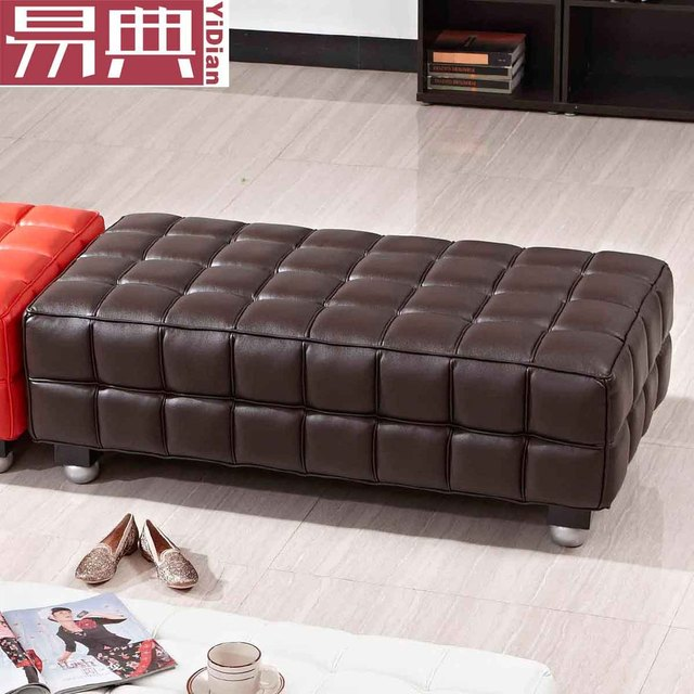 Kubus Leather Ottoman Foot Rest Stool Sofa Changing His Shoes Pu