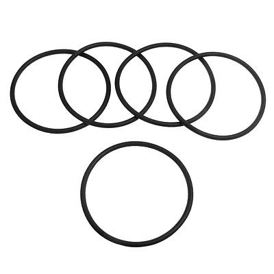 5 Pcs 50mm x 2.4mm Black Silicone O Rings Oil Seals Gaskets