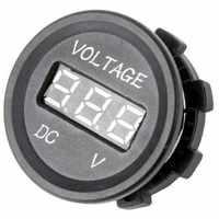 Professional Black 12 V-24 V DC LED Digital Display Auto Car Motorcycle voltmeter Metro Waterproof Voltmeter Socket