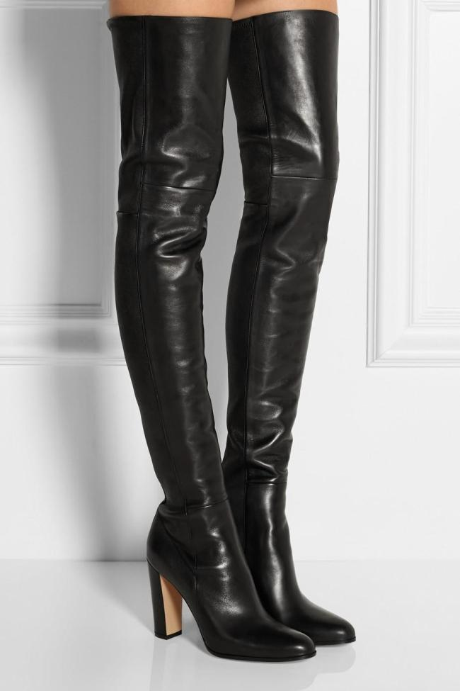 Cheap Thigh High Leather Boots