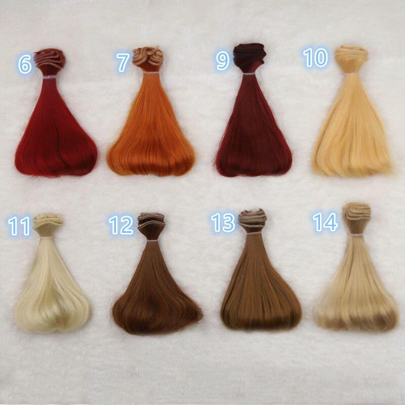 1 Pcs 15cm Doll Wigs For 1/3 1/4 1/6 BJD SD Ye Luoli Chole DIY Doll Wigs Semicircle Inner Buckle Doll Wigs Fapai