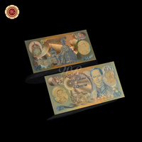 New Gold Banknote 1992Year Poetry Na Kalin Queen Mother's 90th Anniversary Gold Banknote 50 Baht for collection