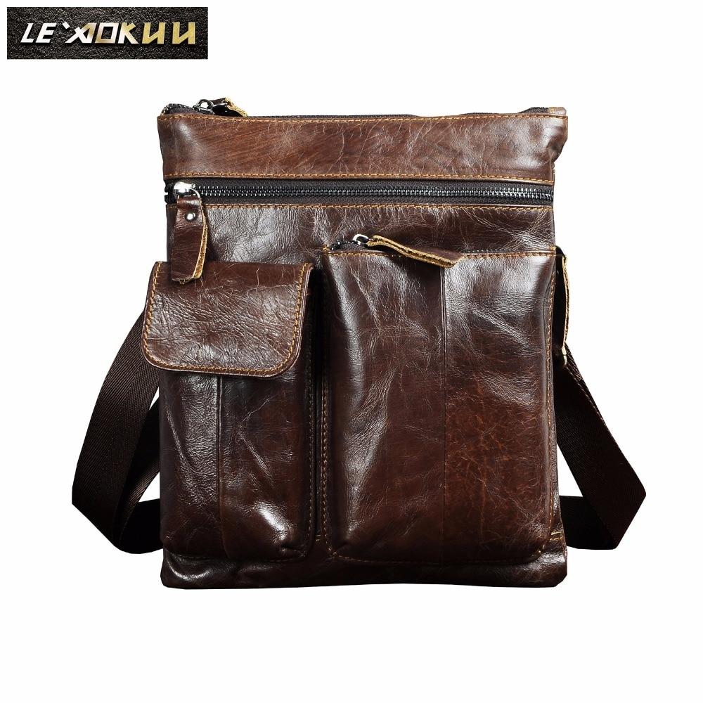 Quality Leather Male Design Shoulder Messenger Bag Casual Fashion Cross-body Bag 10