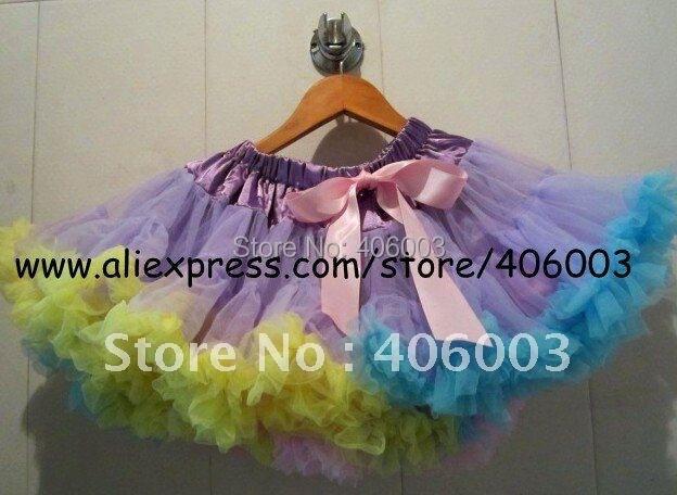 wholesale rainbow pettiskirt 5pcs/lot