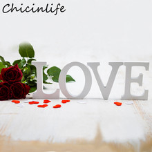 Chicinlife 1Pcs A-Z Wooden Letters English Alphabet Birthday Wedding Party DIY Handcrafts Home Valen