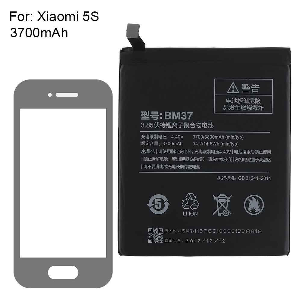 Original Battery BM37 For Xiaomi Mi5s Mi 5S Plus