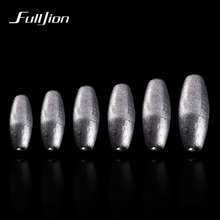 Fulljion Lead Sinkers Water Droplets Lead Weights Oval Split Shot Olive In Line Fishing Tackle Accessorie Hollow And Solid 2pcs