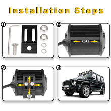 VISORAK 4″ 72W Spot LED Work Light Bar 12V 24V Offroad LED Beams Car 4X4 4WD Truck SUV ATV Trailer Pickup Driving LED Light Bar