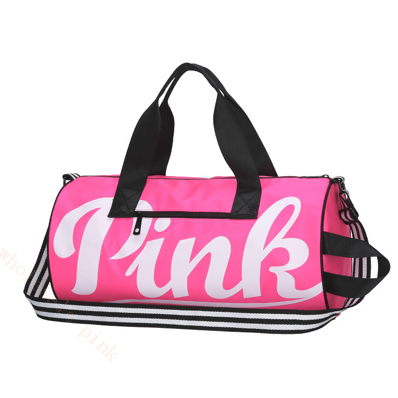 Newest large capacity tote bag pink stripe duffle bag Victoria fit beach shoulder bag secret weekend vs handbags for women