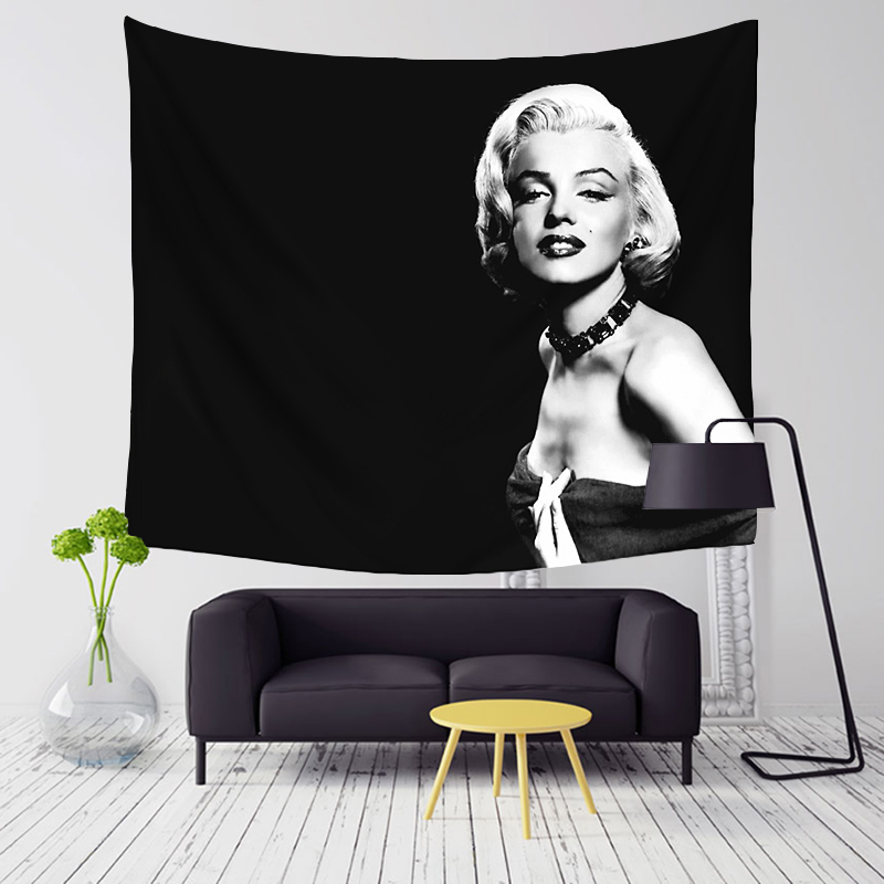 Comwarm Vintage Sexy Godness Marilyn Monroe Pattern Series Polyester Tapestry Wall Hanging Mural for Modern Room