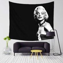 Comwarm Godness Sexy Vintage Marilyn Monroe Serie Patrón de Poliéster Tapiz Colgante de Pared Mural para Modern Home Decor Art