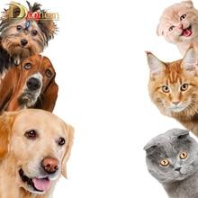 Hot Funny Animal Cat Dog 3D Wall Stickers Baby Room Living Kitchen Home Decor Door Vinyl Refrigerator Wallpaper