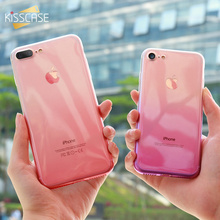 KISSCASE Color Clear Case For iPhone 6 6s Plus 5 5s SE Silicone Cases 8 7 Luxury Soft Protective Coque