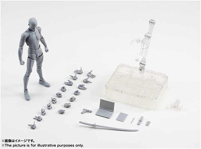 SHF CORPO KUN/CORPO CHAN del corpo-chan del corpo-kun Grigio Colore Ver. Nero PVC Action Figure Da Collezione Model Toy