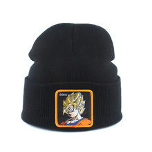 Dragon Ball Embroidery Cartoon Beanie Winter Warm Knitted Hats For Men Women Hip Hop Skullies Bonnet Ski Cap