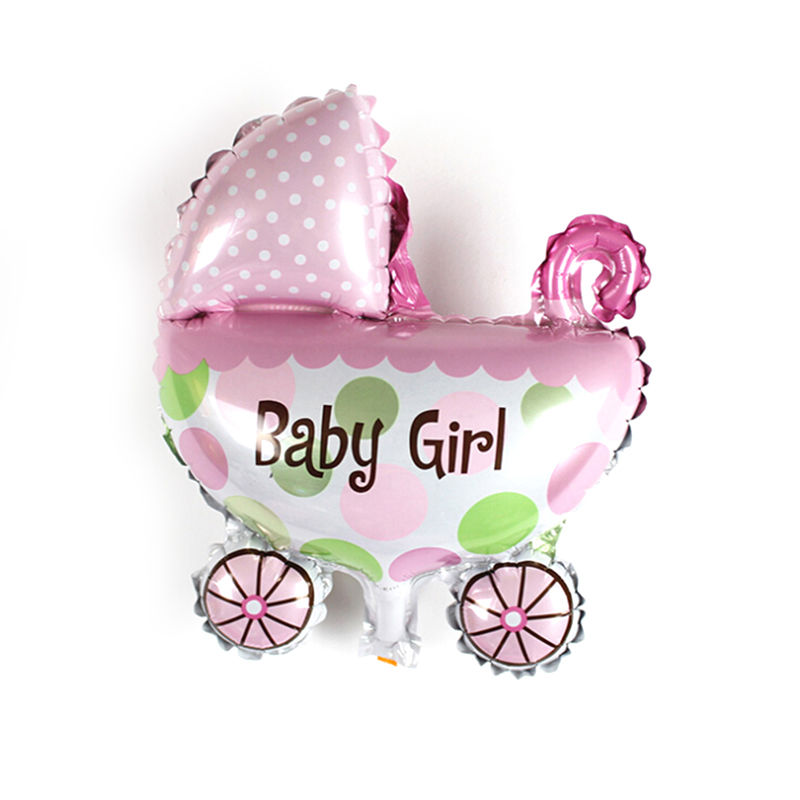 "11.8"" Cute Baby Girls Boys Balloon Baby Shower Baby Stroller Foil Ballon Baby Toys For Newborn Party Decoration Balloons"