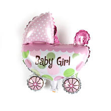 "11.8"" Cute Baby Girls Boys Balloon Baby Shower Baby Stroller Foil Ballon Baby Toys For Newborn Party Decoration Balloons(China)"