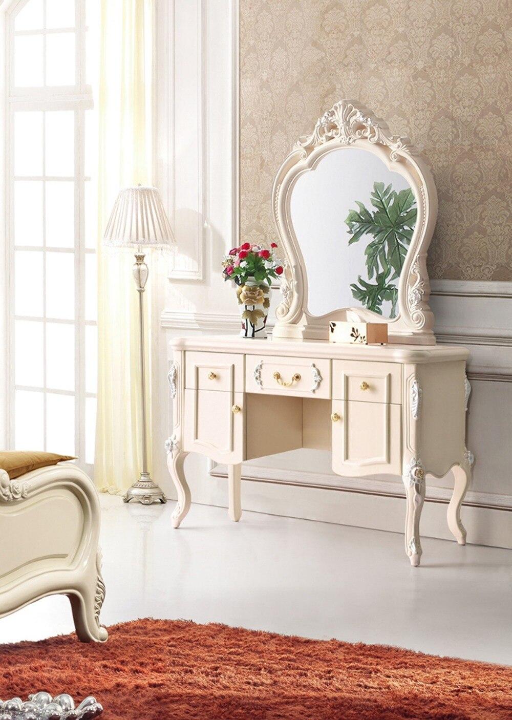 comprar juego de dormitorio moderno de alta clase de estilo europeo con tallada a mano de madera maciza