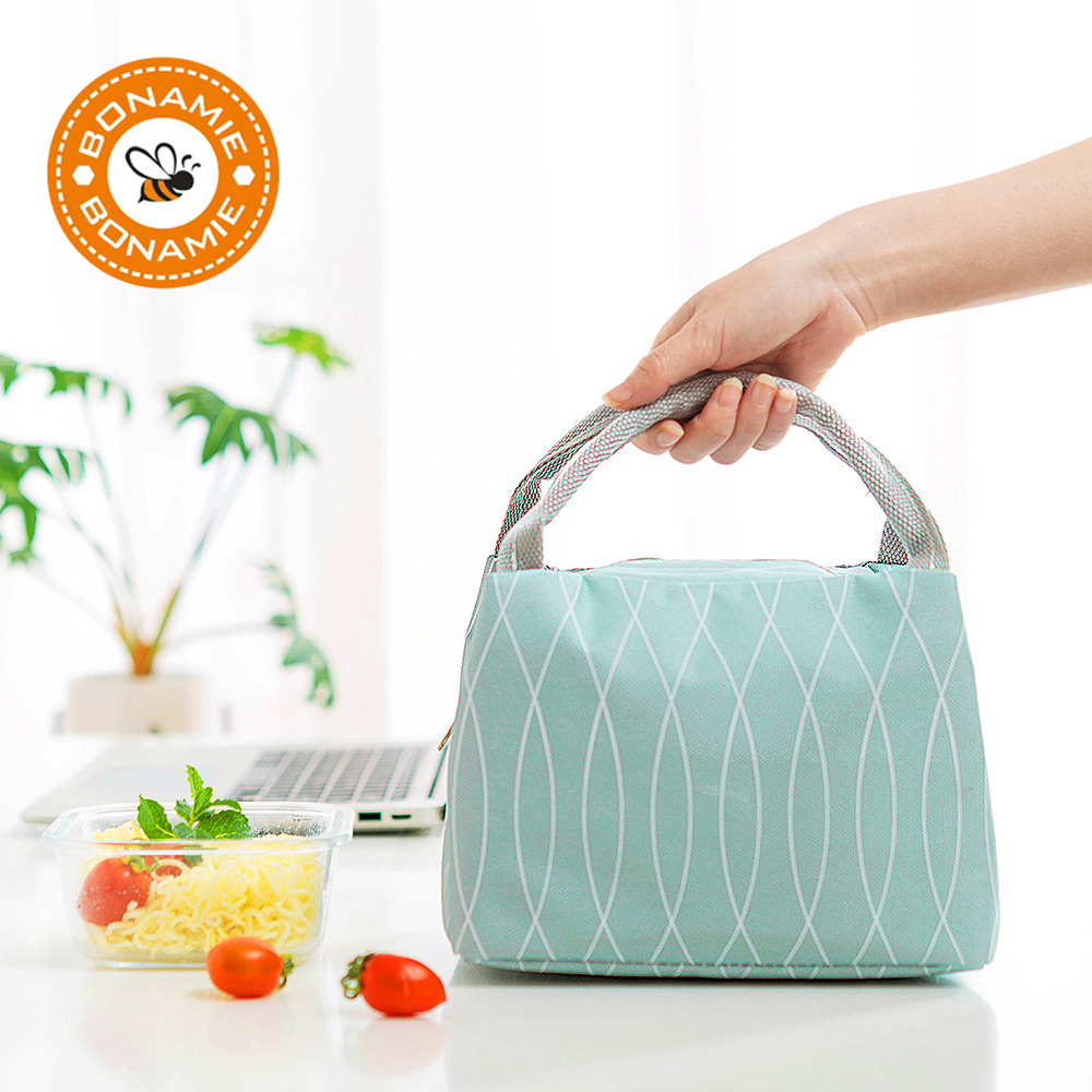 BONAMIE New Portable Milk Bottle Thermal Insulation Lunch Bag Women Oxford Cloth Picnic Food Cooler Bag Lancheira Bolsa Termica