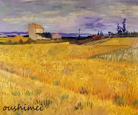 Hand Painted Wall Artwork Landscape Oil Painting Reproduction Van Gogh Gold Wheat Fields Home Decorative Canvas Paintings