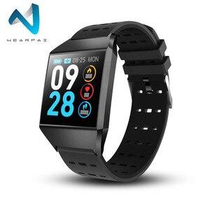 Image 1 - Wearpai W1C platz uhr led touchscreen herz rate überwachung blutdruck Schrittzähler fitness uhren Wasserdicht für Sport