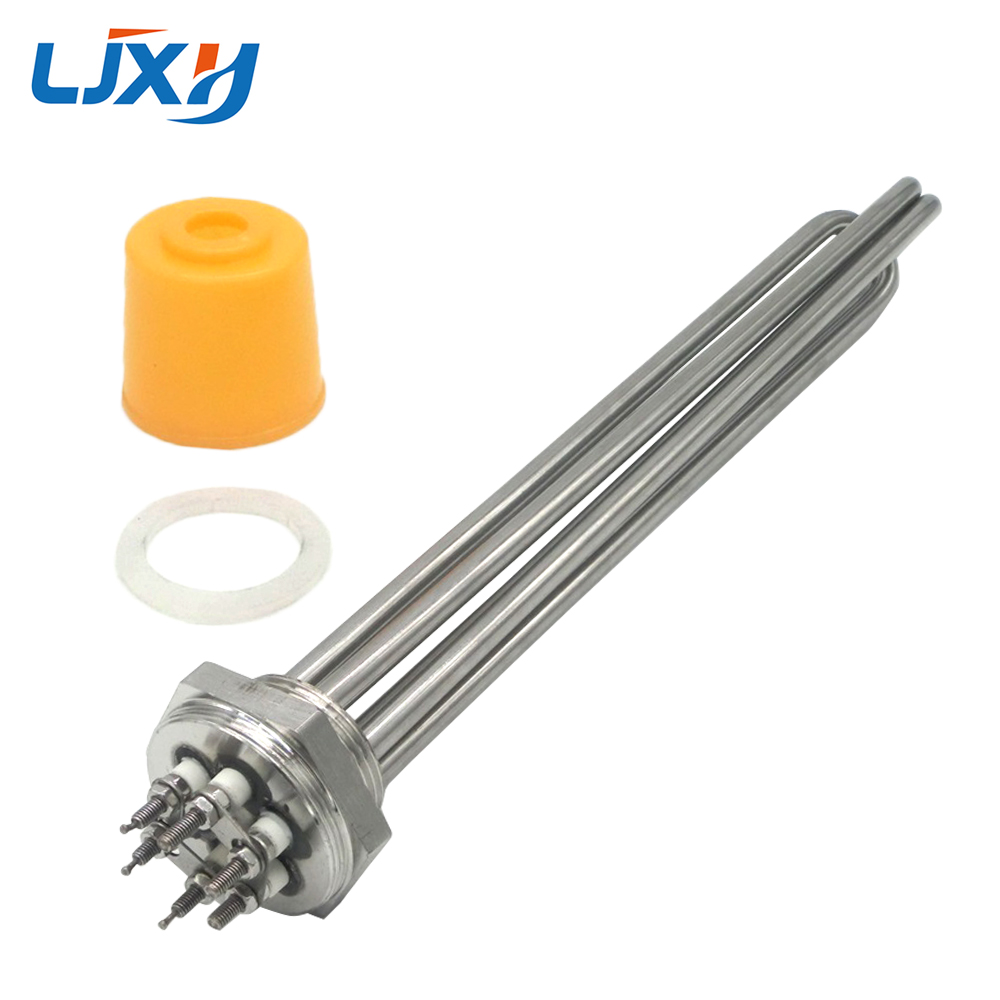 Heating Element for Water, 304 Stainless Steel Heaters, 3KW/4.5KW/6KW/9KW/12KW Boiler Water Heater, 1.2inch/DN32 Thread ac380v 6kw 6p terminals water boiler heating element 3u tube heater