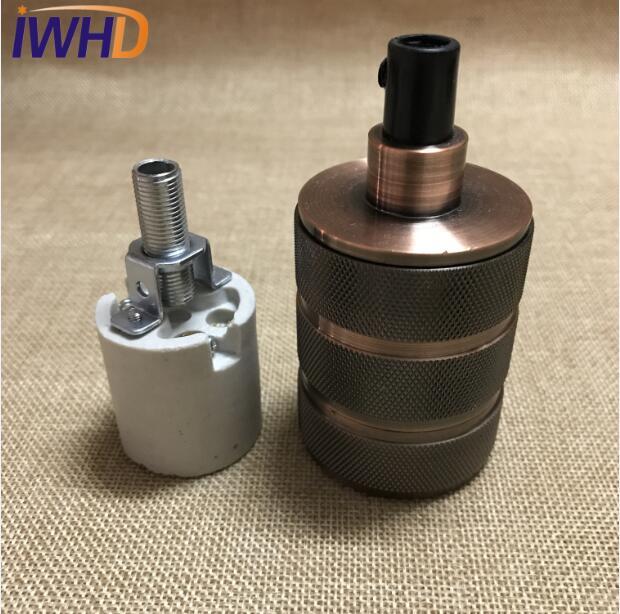 Portalampada, винтажный E27 патрон для лампы, фитинг, промышленный стиль, дуиль E27, винтажный патрон для лампы Эдисона, подвесное основание для патрона - Цвет: 6