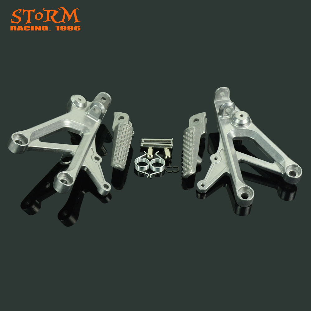 Front Footpegs Foot Pegs Footrest Pedals Bracket For HONDA CBR600 F4 CBR600F4 1999-2000 CBR600F4I CBR600 F4I 2001-2006 upper stay fairing bracket for honda cbr600 f4i 2001 2006 2002 03 04 05