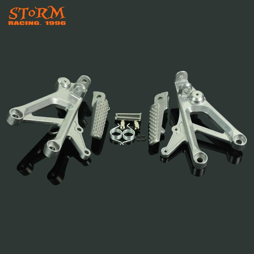 Front Footpegs Foot Pegs Footrest Pedals Bracket For HONDA CBR600 F4 CBR600F4 1999-2000 CBR600F4I CBR600 F4I 2001-2006