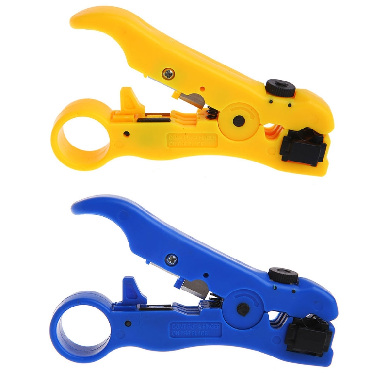 1 Set STP UTP Cat5 Cat6 Wire Coaxial Stripping Tool Flat/Round Cable Stripper Cutter New Hot