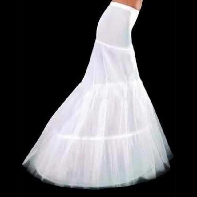 New Hot Sale In Stock 2017 2 Hoops White Mermaid Wedding Dress Petticoat Crinoline Slip Cheap