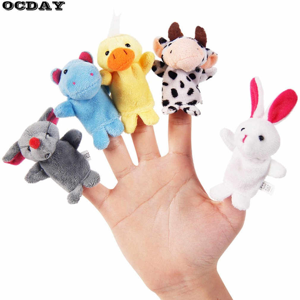 Cute Animal Finger Puppets Hand Puppet Baby Plush Toy Storytelling Props Doll Animal Plush Finger Puppet Children Christmas Gift