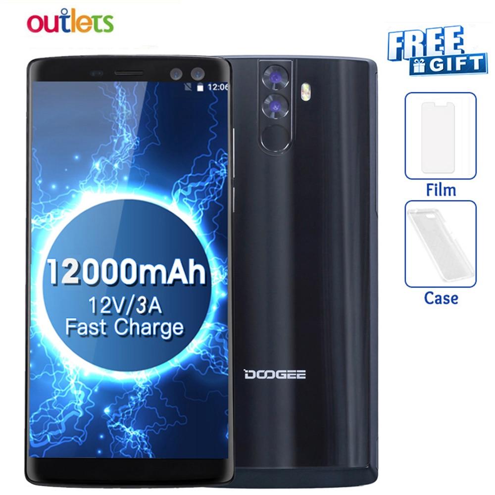 Original DOOGEE BL12000 4G Handys Android 7,0 4GB + 32GB Octa Core Smartphone 12000mAh 4 kameras 6,0 zoll FHD + Handy