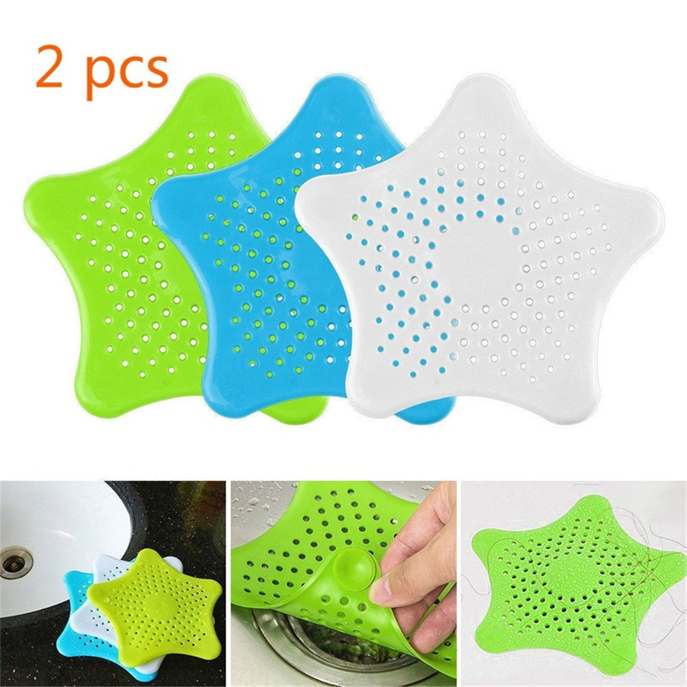 2Pc Creative Kitchen Sink Strainers Drains Filter Sewer Hair Catcher Bathroom Cleaning Tool For Kitchen Sink Accessories Gadgets