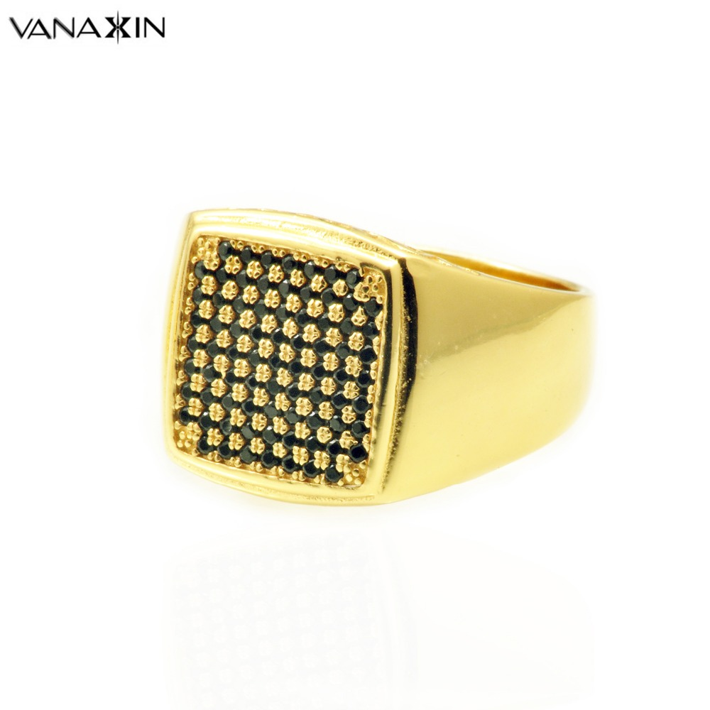 VANAXIN 925 Sterling Silver Jewelry White Black AAA Cubic Zirconia Gold Color Ring For Women Men Party Rings Wide Jewelry Gift сумка для ноутбука 13