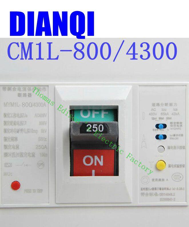 CM1L-800/4300 MCCB 630A 800A molded case circuit breaker CM1L-100 Moulded Case Circuit Breaker earth leakage circuit breaker dz20le 630 4300 630a