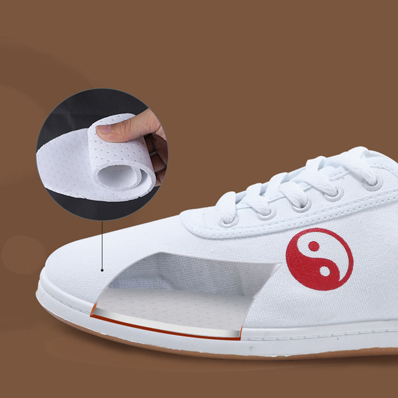 White Chinese Yin Yang Practice Shoes 3