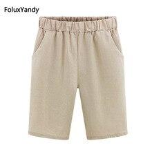 цена на Thin Summer Shorts Women Plus Size 6 XL Casual Loose Harem Shorts Khaki Green Black Blue OMW21