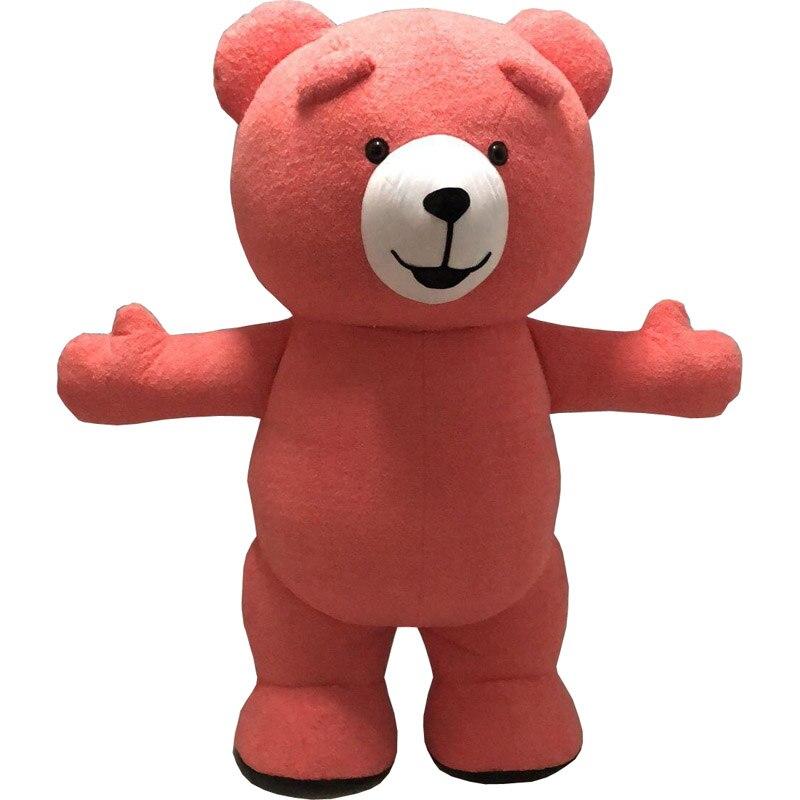 Teddy Bear Gonfiabile Costume Personalizzare Adulto Adatto Per Dell'orso Del Costume Della Mascotte Animale del Costume di Colore Marrone grasso costume per adulti