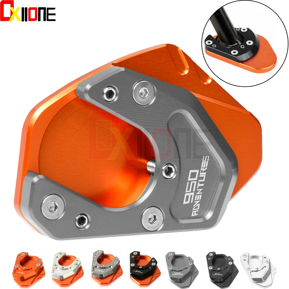 Motorcycle Side Stand Enlarger Kickstand Enlarge Plate Extension Pad for KTM 950adventure S 950 Adventure S 2005 2006 2007 2008 in Covers Ornamental Mouldings from Automobiles Motorcycles