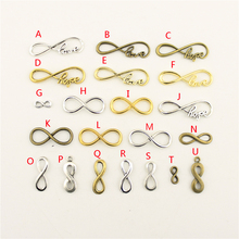 20Pcs Wholesale Bulk Supplies For Jewelry Materials Infinity Creative Handmade Birthday Gifts Charms Making HK178