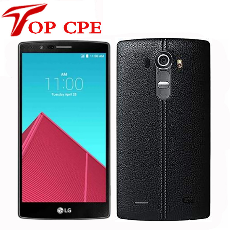 Original Unlocked LG G4 4G LTE  H818 H810 H811 H815 mobile phone Hexa Core 5.5 inch 16.0MP Camera 3GB 32GB Android Smartphone(China)